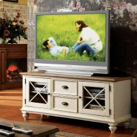 Coventry Two Tone - 58-inch TV Console - Weathered Driftwood/dover White Finish Product Image
