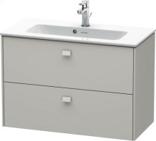 Vanity Unit Wall-mounted Compact, Concrete Grey Matt Decor
