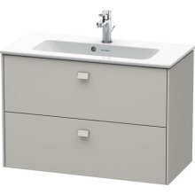 Vanity Unit Wall-mounted Compact, Concrete Gray Matt Decor