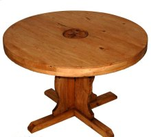 """60"""" Round Table W/star On Top"""