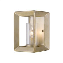 Smyth 1 Light Wall Sconce in White Gold with Clear Glass