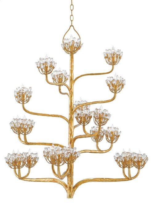 Agave Americana Gold Chandelier