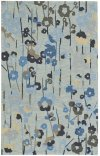 Stems Lt. Blue Hand Tufted Rugs