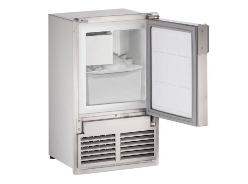 """Marine Series 14"""" Marine Crescent Ice Maker With Stainless Solid Finish and Field Reversible (flush To Door) Door Swing"""