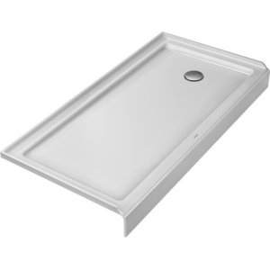 White Architec Shower Tray With Panel