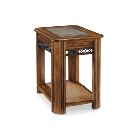 Sliding Top Chairside End Table
