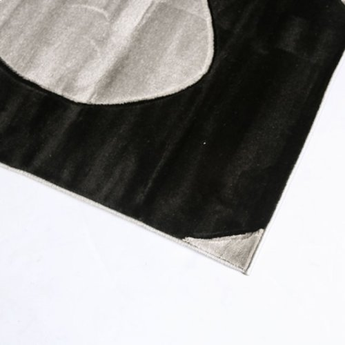 "Aisling 5' 3"" X 4"" Black & Gray Area Rug"