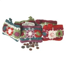 Crochet Snowflake Coin Purse (5 asstd)