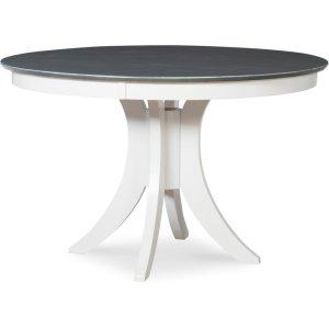 JOHN THOMAS FURNITURE30'' H Siena Pedestal Table in Heather Gray & White