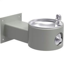 Elkay Outdoor Fountain Wall Mount Non-Filtered, Non-Refrigerated Freeze Resistant Gray