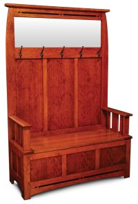 Aspen Hall Bench with Inlay Product Image