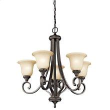 Monroe 5 Light Chandelier with LED Bulbs Olde Bronze®