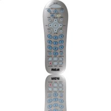 4 device silver universal remote (batteries included)