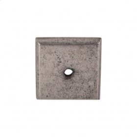 Aspen Square Backplate 1 1/4 Inch - Silicon Bronze Light