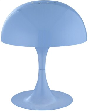 Mini Table Lamp, Blue Metal Shade, E12 Type G 40w