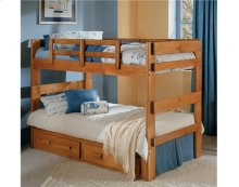 Heartland 2 x 6 Split Bunk Bed with options: Honey Pine, Twin over Twin, 2 Drawer Storage