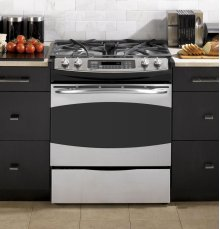 "GE Profile Series 30"" Slide-In Gas Range"