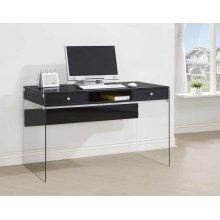 Contemporary Glossy Black Writing Desk