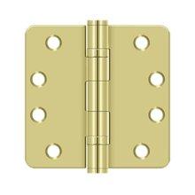 "4"" x 4"" x 1/4"" Radius Hinge, HD, Ball Bearings - Polished Brass"