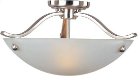 Contour 2-Light Semi-Flush Mount