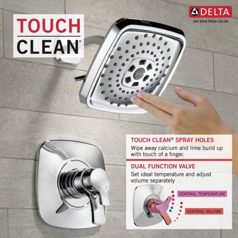 Polished Nickel Monitor 17 Series H2okinetic Shower Trim