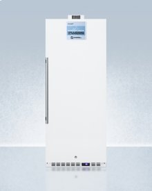 Commercially Approved 10.1 CU.FT. Nutrition Center Series All-refrigerator With Stainless Steel Door, Front Lock, and Nist Calibrated Digital Temperature Display