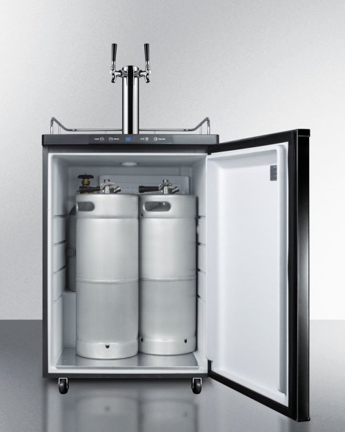 Built-in Residential Beer Dispenser, Auto Defrost With Digital Thermostat, Dual Tap System, and Black Exterior Finish