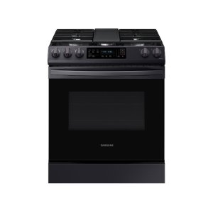 Samsung Appliances6.0 cu. ft. Front Control Slide-in Gas Range with Convection & Wi-Fi in Black Stainless Steel