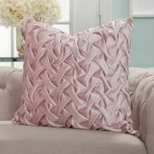 "Life Styles L0064 Blush 22"" X 22"" Throw Pillows"