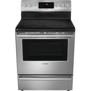 "BOSCH30"" Electric Freestanding Range 500 Series - Stainless Steel HES5053U"
