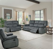 Manual Dual Reclining Sofa With Drop Down Console With Cup Holders and Usb Charging Port