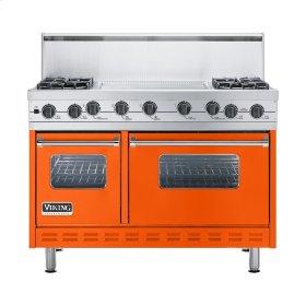 """Pumpkin 48"""" Sealed Burner Self-Cleaning Range - VGSC (48"""" wide, four burners & 24"""" wide griddle/simmer plate)"""