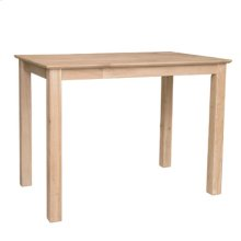 Solid Top Shaker Bar Table with Shaker Legs