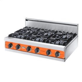 "Pumpkin 36"" Open Burner Rangetop - VGRT (36"" wide, six burners)"