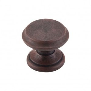 Flat Top Knob 1 3/8 Inch - Patina Rouge