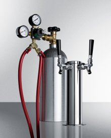 "Dual Tap System With Nitrogen Tank To Serve Cold Brew ""flat"" Iced Coffee From Most Beer Dispensers"