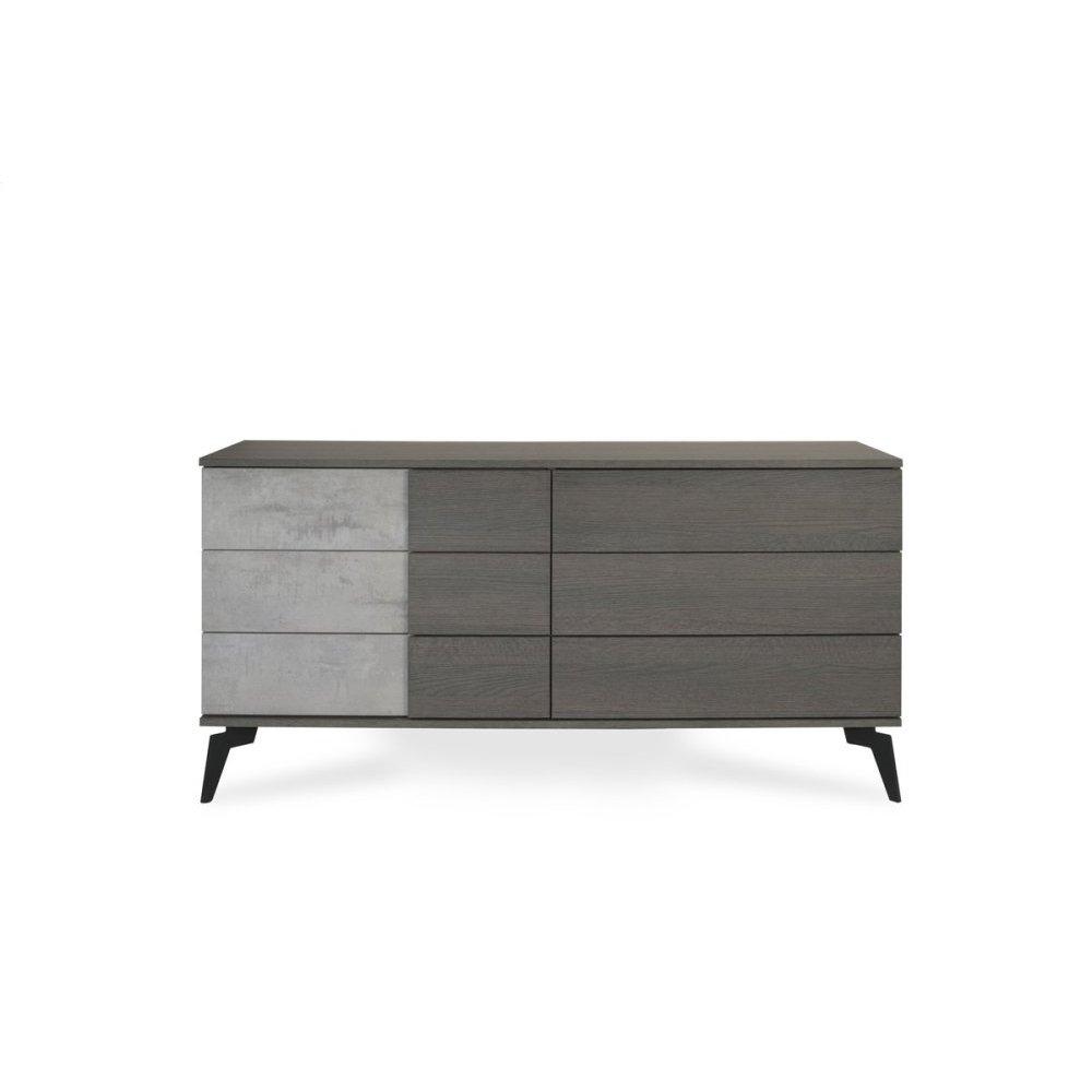 Nova Domus Italian Modern Faux Concrete & Grey Dresser