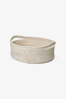 Palm Medium Oval Storage Basket with Handles STYLE: PLBA09