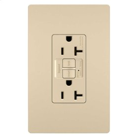 Tamper-Resistant 20A Outlet Branch Circuit AFCI Receptacle, Ivory