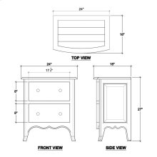 Bow-Front Nightstand Cabinet