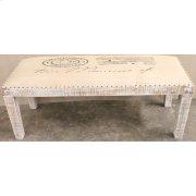 Bengal Manor Mango Wood Burlap Bench Product Image