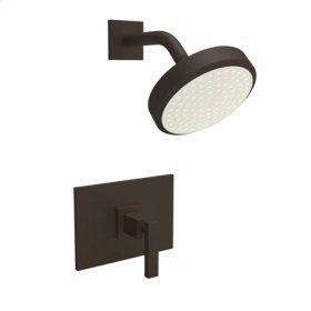 Gloss-Black Balanced Pressure Shower Trim Set