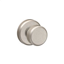 Bowery Knob with Greyson trim Hall & Closet Lock - Satin Nickel