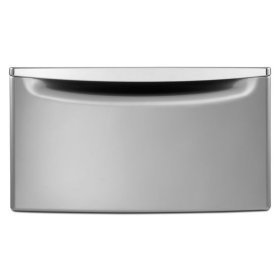 """15.5"""" Pedestal for Front Load Washer and Dryer with Storage - chrome"""