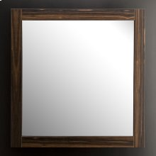 "Wall-mount mirror in wooden frame, 41 1/2""W, 41 1/2""H."
