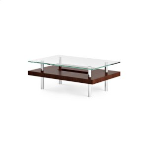 Bdi FurnitureSmall Rectangular Coffee Table 2302 in Chocolate Stained Walnut