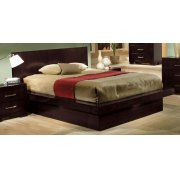 Jessica Dark Cappuccino Queen Platform Bed Product Image
