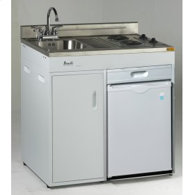 """36"""" Complete Compact Kitchen with Refrigerator"""