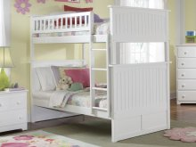 Nantucket Bunk Bed Twin over Twin in White