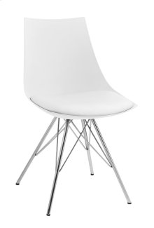 Emerald Home Audrey Dining Chair White Seat-chrome Base D119chr-32-09